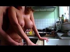 Nice german quickie in the kitchen