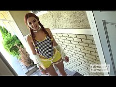 Tiny Girl in Pigtails & Braces Gets Brutally Fu...