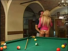She's fucked hard on the pool table