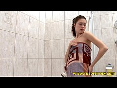 Shower masturbating teen