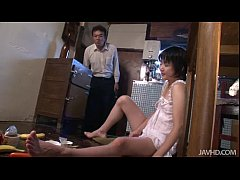 Kinky teen Aoba uses her food groups to tease h...