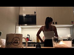 Perfect Pokies on the Kitchen Cam, Braless Sylv...