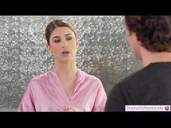 Masseuse gives client a nuru gel massage