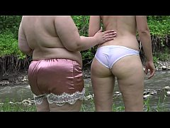 Squirt hairy pussy. Two Russian lesbians with b...