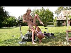Watch Danielle Maye and Loulou Petite workout &...