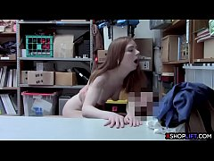 Hot skinny redhead teen shoplifter gets caught ...