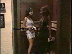 lesbian sex in elevator - Lesbian sex video