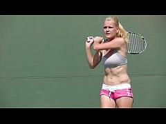 Hot and Beautiful Agnieszka Radwanska Practices...