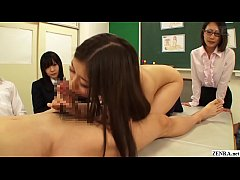 Japanese school sex demonstration blowjob porti...