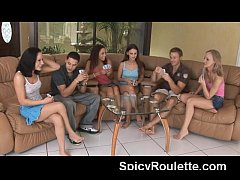 A group of amateurs playing strip poker & fucking