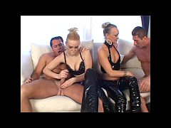 Two Hot Girls In Foursome Action
