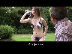 Perfect Natural Teen Fucked by Grandpa Outside ...