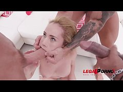 Natasha Teen balls deep fucking 3on1 with DP & ...