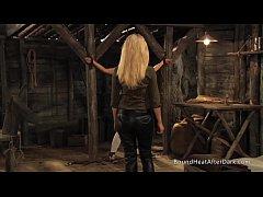 Enslaved Girl In Black Panties Moans As Mistres...