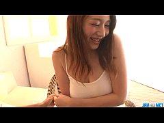 Reon Otowa Asian model endures hardcore threesome