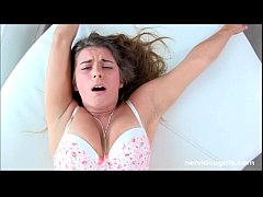Giggly buck toothed amateur is a moaner