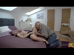 DADDY4K. Fingers of tricky old guy prepare youn...