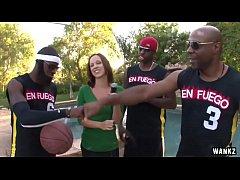 WANKZ- Hot Reporter Gang-Banged by Basketball Team