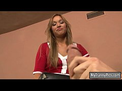 Small tits blonde tranny Khloe Hart ass pounded...