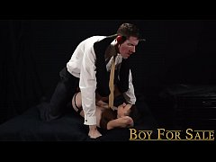 BoyForSale - Barely legal twink boy gets daddy monster cock bareback
