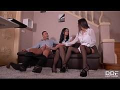 A Maid's Desire: Foot Fetish Threesome With Two...