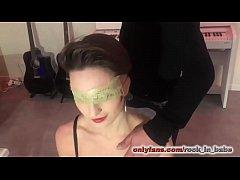 Bukkake at home blindfolded