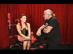 Naked woman spanking video with extraordinary bondage