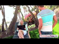 Angel Allwood facialized with Dakota James