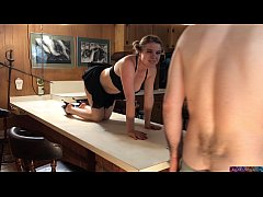 Stepsister gets fucked on the counter (clip)