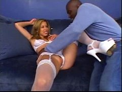 Tiny white chick Versus Lexington Steele Ouch !!!