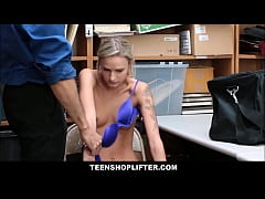 Skinny Blonde Emma Hix Rough Punish Fuck For St...