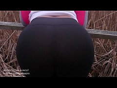 Nasty Blowjob right in the park from a big booty slut kali kush