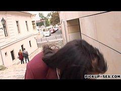 Schollgirl Tricia Teen in uniform gets screwed for money