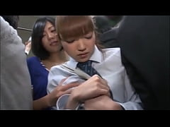 japanese girl gets molested in a train\/ full vi...