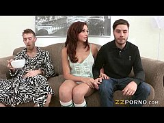 Teen slut Ariana Marie boned and facialed by huge dick