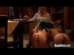 Mistress Teaching Slaves How To Pleasure Each O...