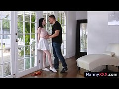 Tight babysitter drilled by nasty master in man...