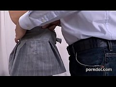 Pretty college girl is seduced and fucked by he...