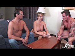strip poker winner gets handjob from Amber Lynn...