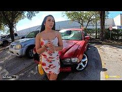 Roadside - Latina Fucks Her Car Mechanics Dick ...