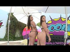 SWALLOWED Abella Danger and Karlee Grey blowing...