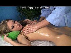 Slim hottie in rough massage fuck