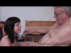 young german slut sucking and fucking old man