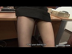 Asian slut gets fucked in the office