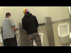 Hot Gay teens having fun in Public bathroom