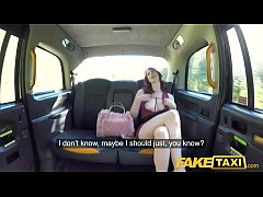 Fake Taxi Hairy redhead pussy gets fucked and c...
