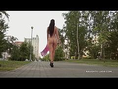 Nude Selfie in Public park