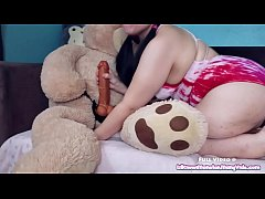 thumb play time with  kiwwi teddy bear fuck r fuck r fuck r fuck