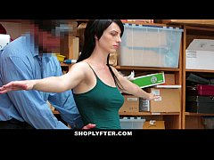 Shoplyfter - Skinny Teen Blackmailed and Stripp...