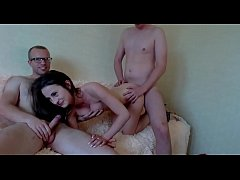 Sexy girl getting fucked by two man on Webcam \/...